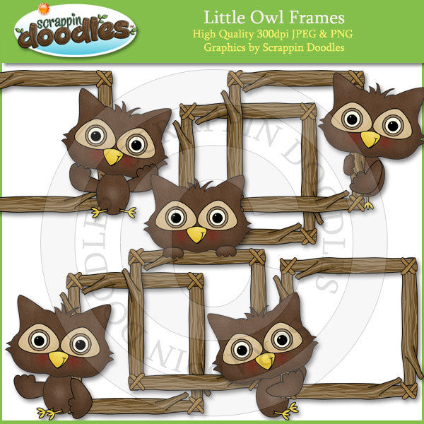 Little Owl Frames Clip Art Download
