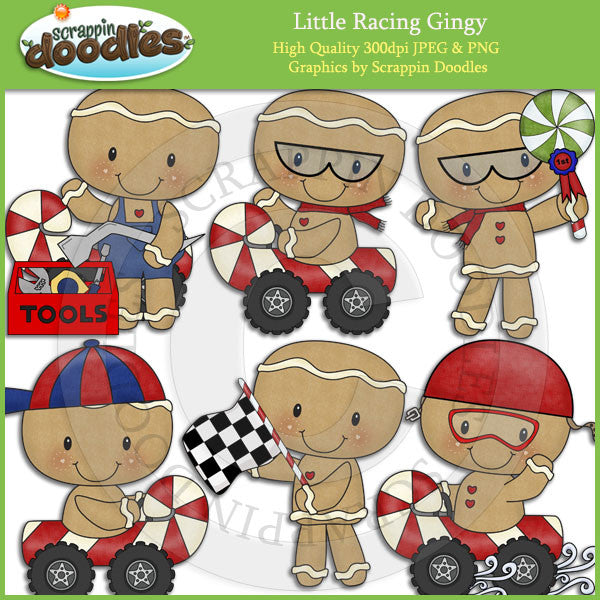 Little Racing Gingy Clip Art Download