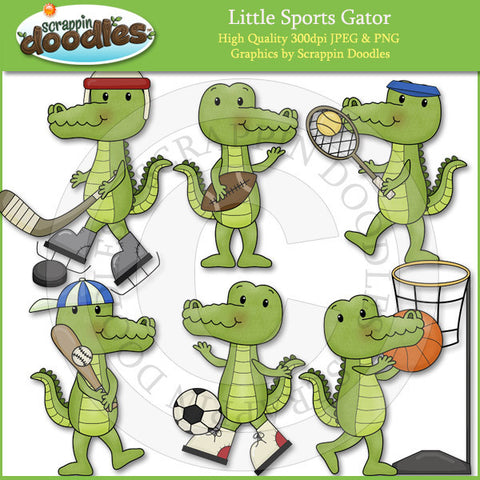 Little Sports Gators Clip Art Download