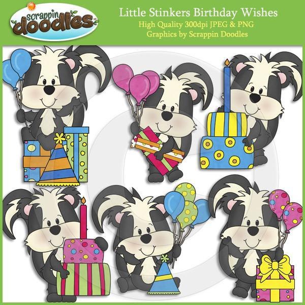Little Stinkers Birthday Wishes Clip Art Download