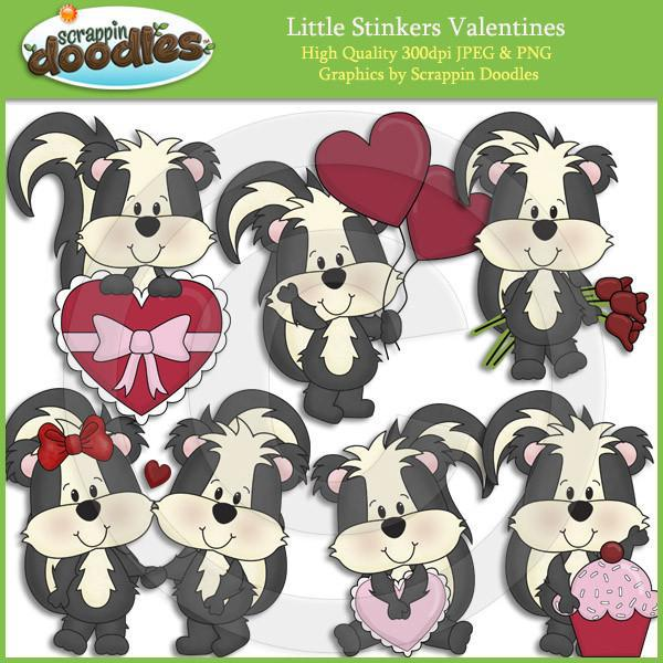 Little Stinkers Valentines Clip Art Download