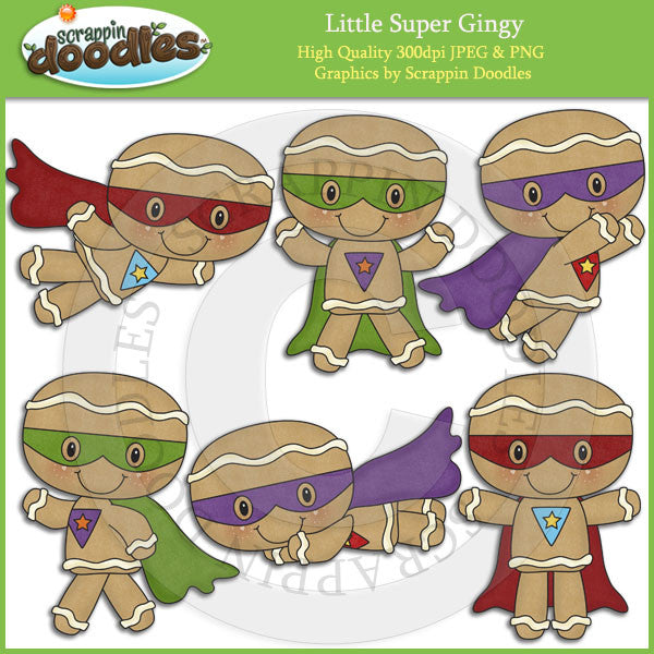 Little Super Gingy Clip Art Download