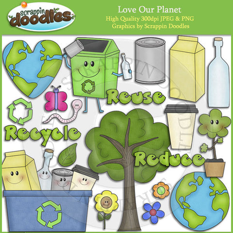 Love Our Planet Clip Art Download