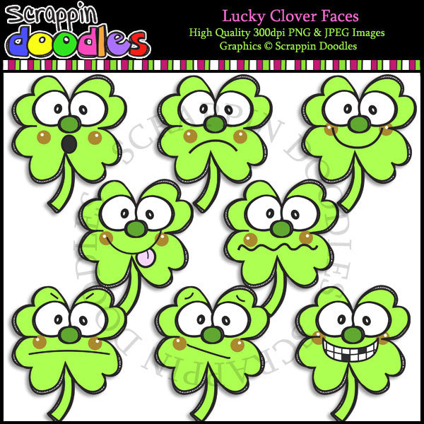 Lucky Clover Faces