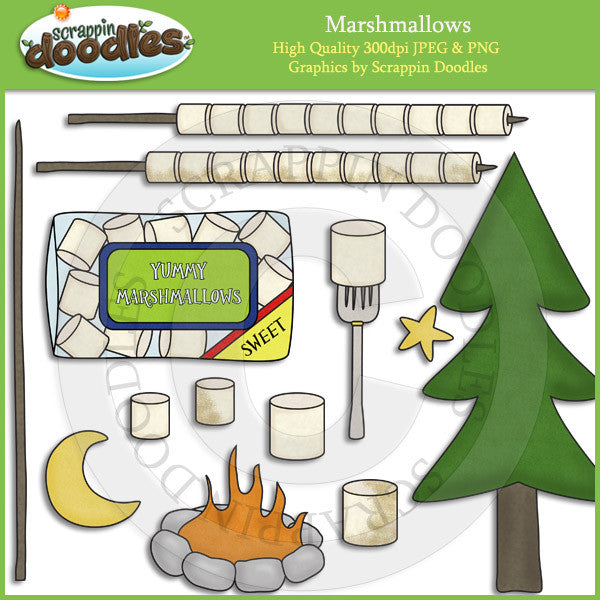 Marshmallows Clip Art Download