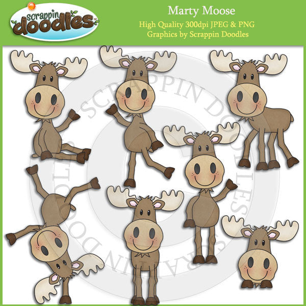 Marty Moose Clip Art Download