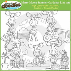 Marty Moose Summer Gardener