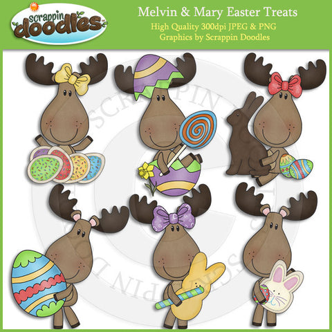 Melvin & Mary Easter Treats Clip Art Download