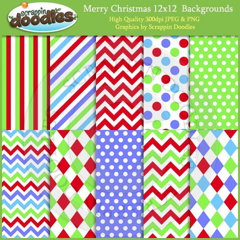 Merry Christmas 12x12 Backgrounds Download