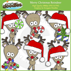 Merry Christmas Reindeer Clip Art