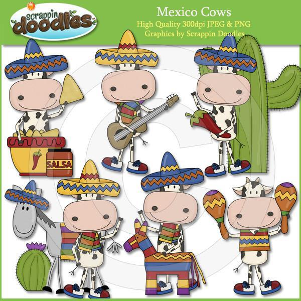 Mexico Cows Clip Art Download