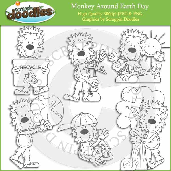 Monkey Around Earth Day