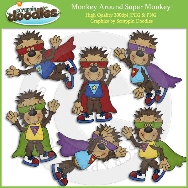 Monkey Around Super Monkey Clip Art Download