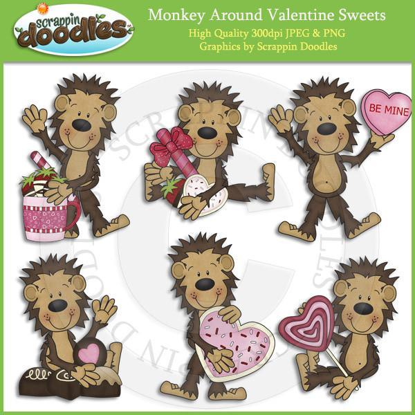 Monkey Around Valentine Sweets Download