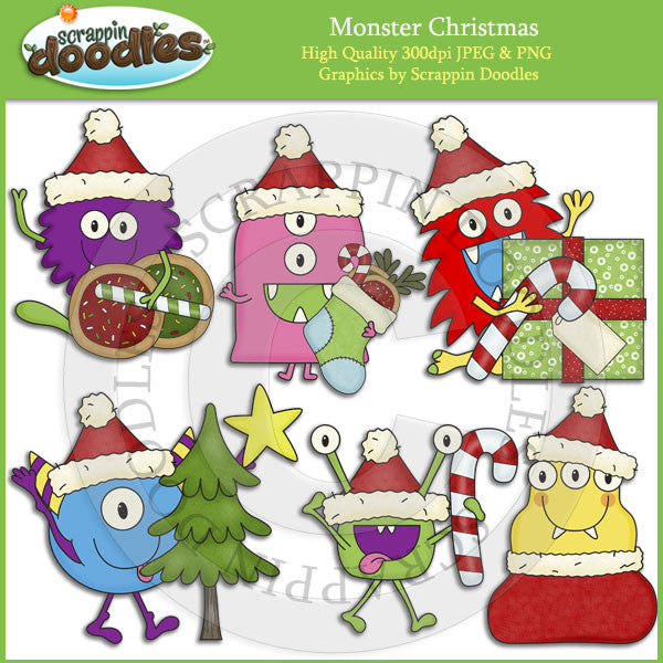 Monster Christmas Clip Art Download