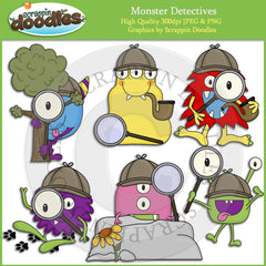 Monster Detectives Clip Art Download