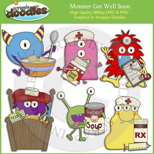 Monster Get Well Soon Clip Art Download