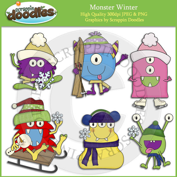 Monster Winter Clip Art Download