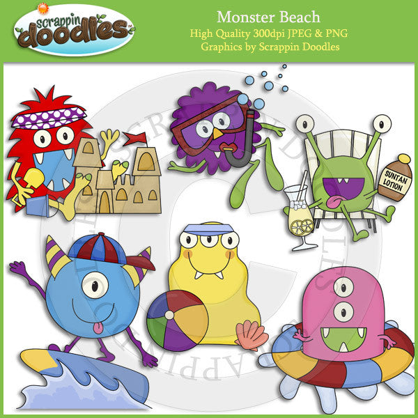 Monster Beach Clip Art Download