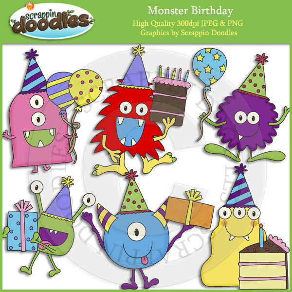 Monster Birthday Clip Art Download