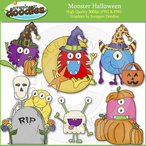 Monster Halloween Clip Art Download