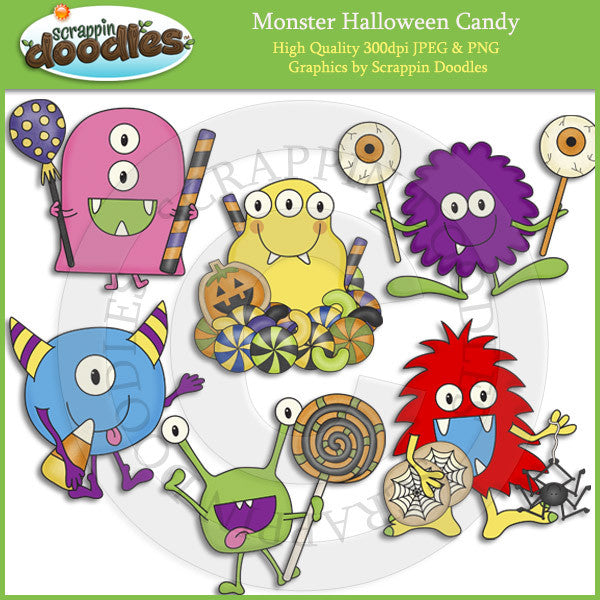 Monster Halloween Candy Clip Art Download