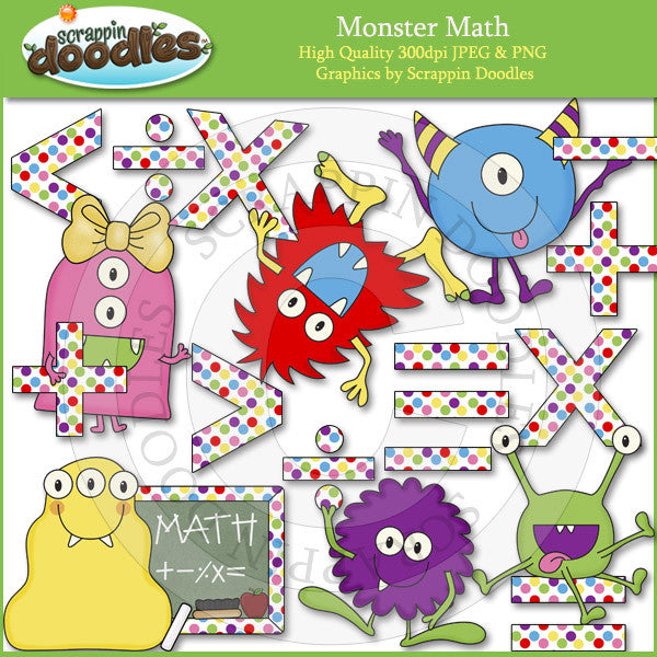 Monster Math Clip Art Download