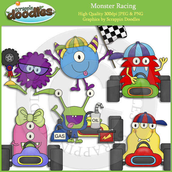 Monster Racing Clip Art Download