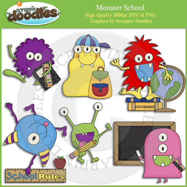 Monster School Clip Art Download