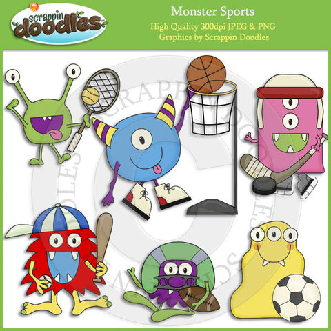 Monster Sports Clip Art Download