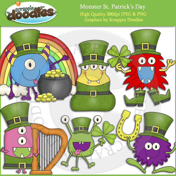 Monster St. Patrick's Day Clip Art Download