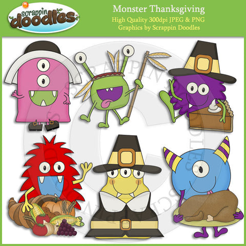 Monster Thanksgiving Clip Art Download