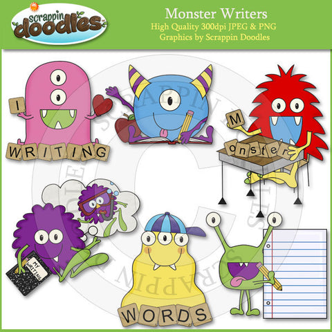 Monster Writers Clip Art Download