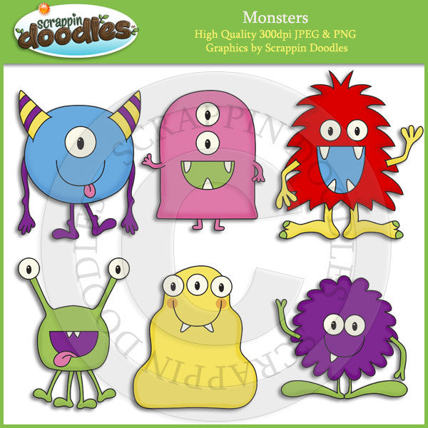 Monsters Clip Art Download