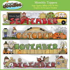 Monthly Toppers - January through December Download