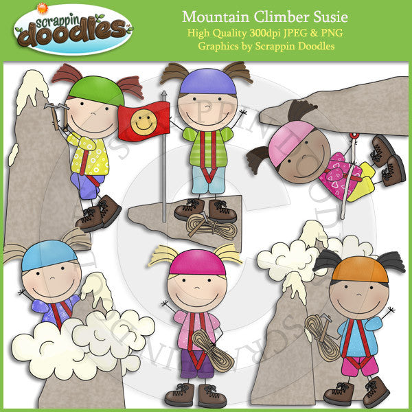Mountain Climber Susie Clip Art