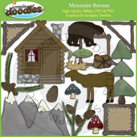 Mountain Retreat Clip Art Download