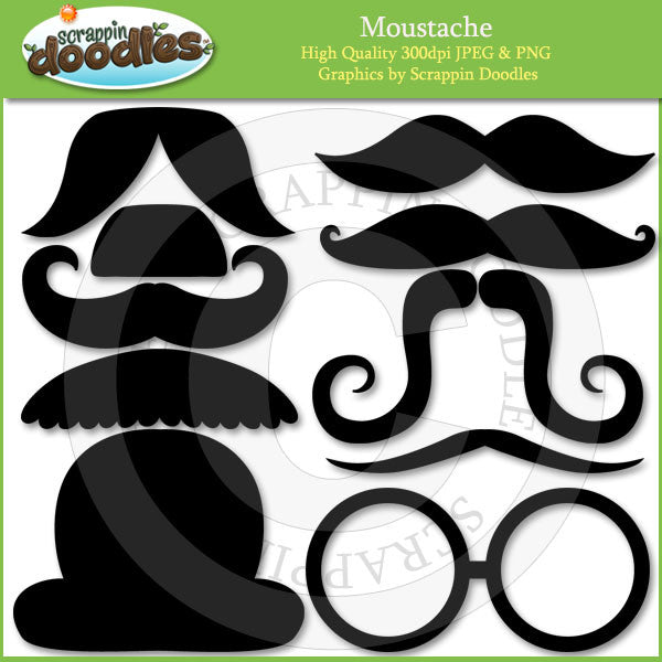 Moustaches with Line Art