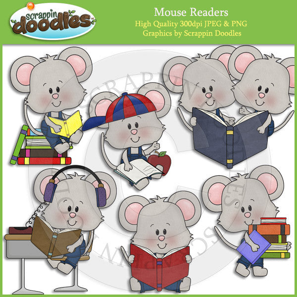 Mouse Readers Clip Art Download