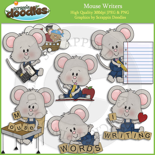 Mouse Writers Clip Art Download