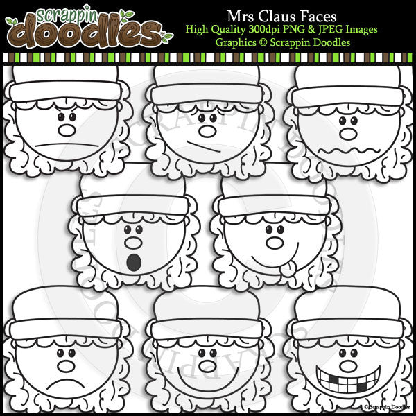 Mrs Claus Faces