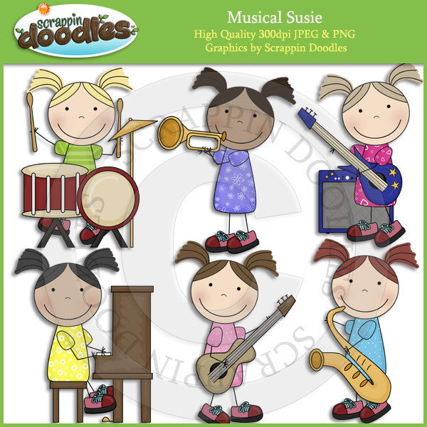 Musical Susie Clip Art Download