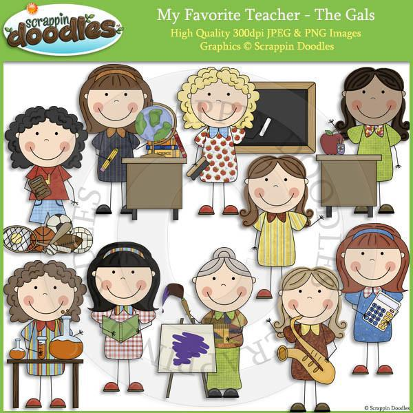 My Favorite Teacher - The Gals Clip Art