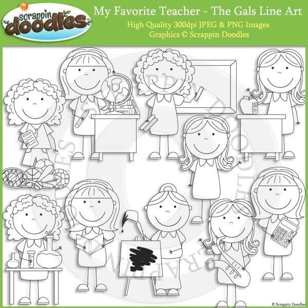 My Favorite Teacher - The Gals Clip Art Commercial Use