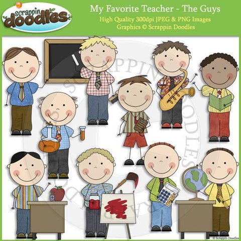 My Favorite Teacher - The Guys Clip Art Commercial Use