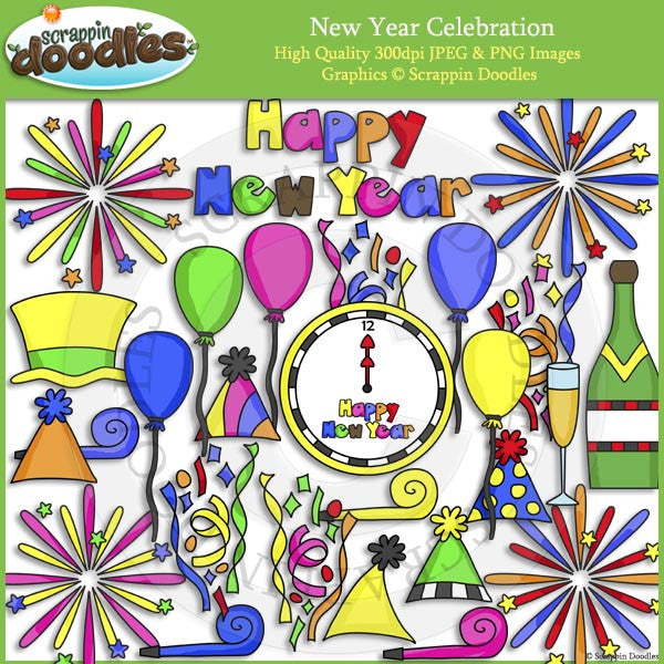 New Year Celebration Clip Art