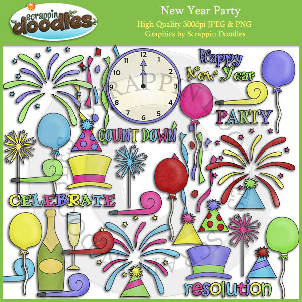 New Year Party Clip Art Download