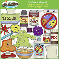 No Germs Allowed Clip Art Download