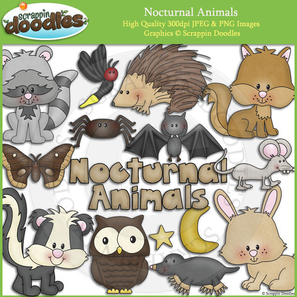 Nocturnal Animals Clip Art Download