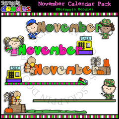 November Classroom Calendar Pack